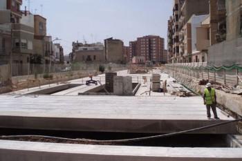 Estación subterránea del metro de Valencia